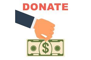 donate money concept