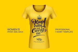 Professional Women T-Shirt Template