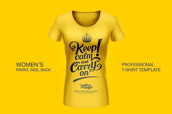 Download Professional Women T Shirt Template Creative Product Mockups Creative Market PSD Mockup Templates