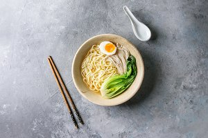 Asian udon noodles