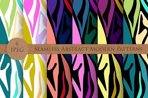 MODERN abstract seamless pattern set