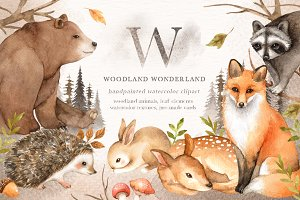Woodland Wonderland Clip Art
