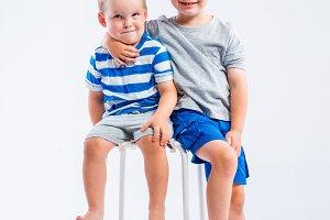 Happy little boys
