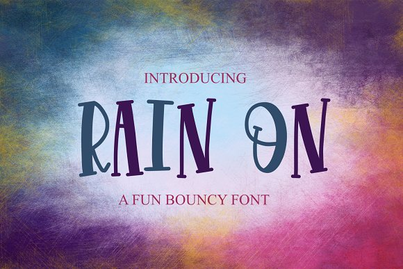 Rain On Font
