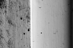 Dirty Detail door in Black and White