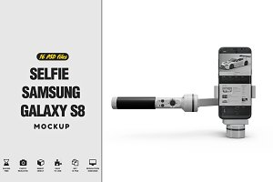 Selfie Samsung Galaxy S8 Mockup