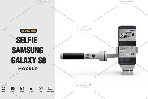 Selfie Samsung Galaxy S8 Mo-Graphicriver中文最全的素材分享平台
