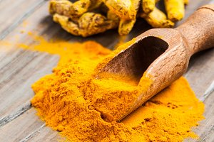The turmeric powder
