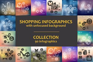 90 SHOPPING INFOGRAPHICS. Collection