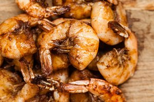 Spicy shrimps macro
