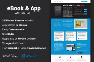 eBook & App Seller Landing Page