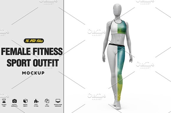 Download Female Sport Outfit Vol.1 Mockup