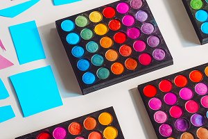 professional make-up artist. bright,