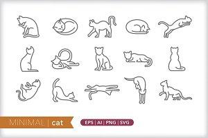 Minimal cat icons