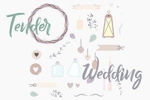 Tender wedding set