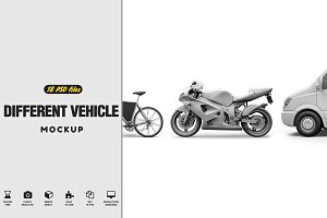 18 Different Vehicle Mock-up