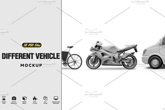 Download 18 Different Vehicle Mock-up