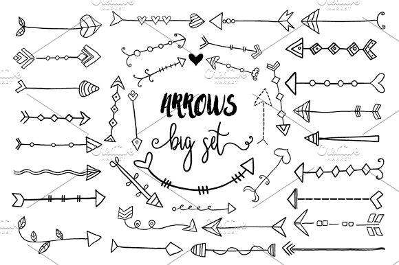 Hand Drawn Doodle Arrows Clipart