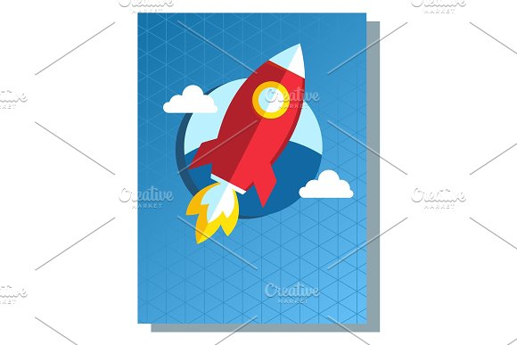 Business Poster Rocket