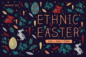 Ethnic Easter Graphic Set
