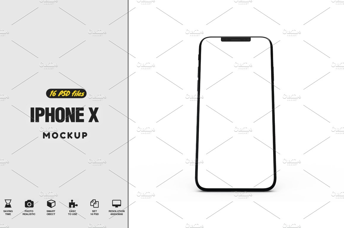 Iphone x mock up vol2 product mockups creative market ccuart Gallery