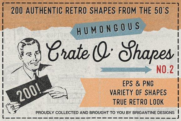 Retro Crate O Shapes Vol.2