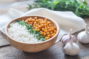 Bowl of chickpea curry