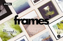 Picture Thin Frame Mockup Set