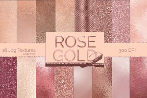 Rose Gold Metallic Textures