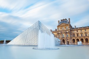 Louvre museum in Paris France