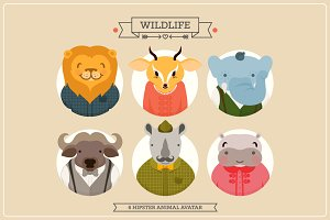 Hipster animal bundle