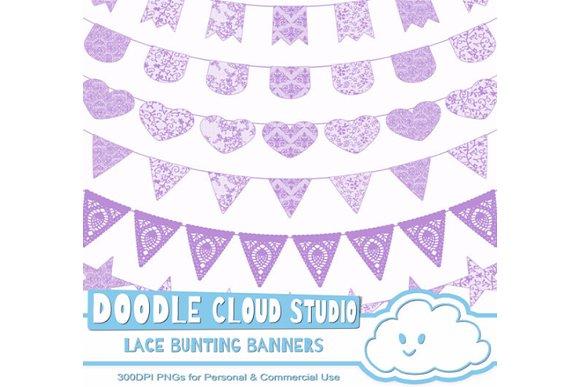 Malva Purple Lace Bunting Banners