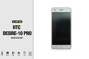 HTC Desire-10 Pro App Skin Mock-Up