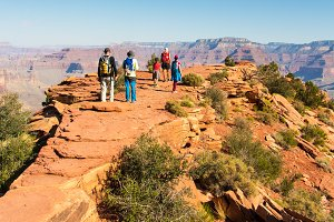 Group of friends  in Grand Canyon