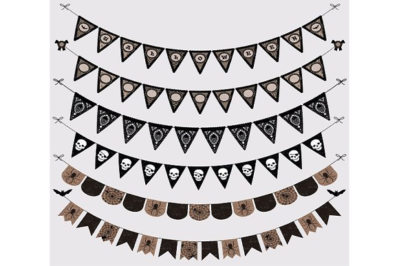 Halloween Gothic Bunting Banners