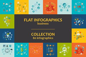 80 BUSINESS FLAT infographics