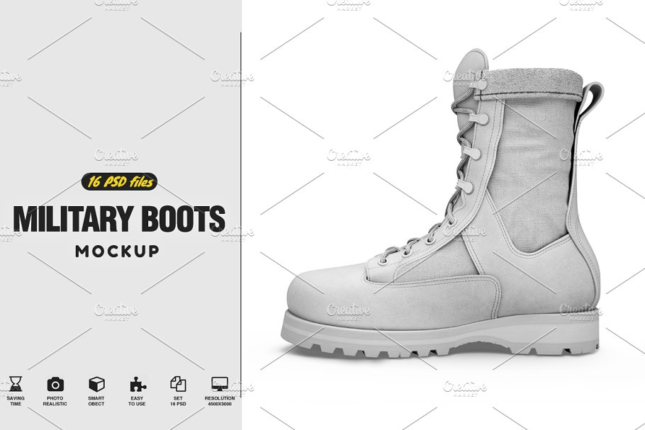 Military Boots Mockup