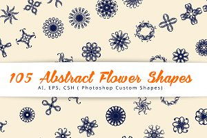 105 Abstract Flower Shapes