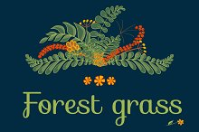 Forest grass. Floral project