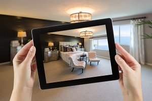 Holding Tablet, Room Drawing/Photo
