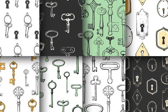 Keys In Sketch Style
