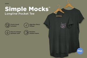 Longline T-Shirt Mockup
