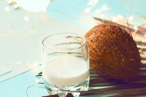 coconut. coconut milk. garland shine