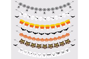 Halloween Bunting Banners Cliparts