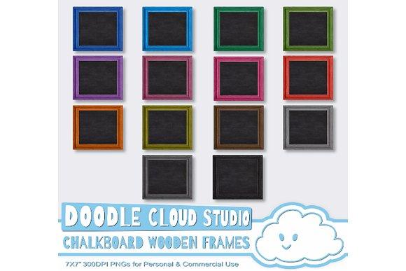 Framed Chalkboards Wooden Frame