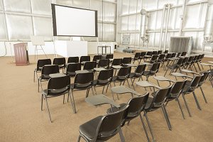 Empty Presentation Conference Room