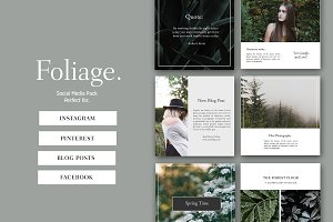 Foliage Instagram Social Media Pack