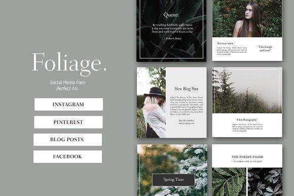 Foliage Instagram Social Media Pack