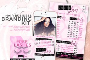 Hair Business Flyer & IG Templates