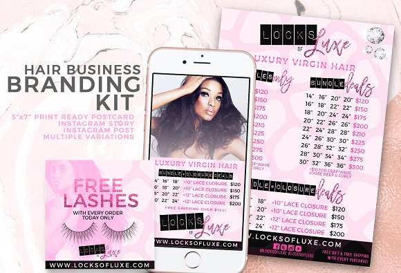 Hair Business Flyer & IG Templates in Flyer Templates